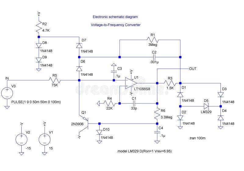 Diagrama shematic eléctrico ilustración del vector