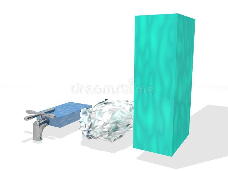 Download Diagrama zapasu woda ilustracji. Ilustracja złożonej z kwadrat - 13327182
