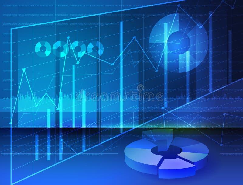 Diagramas abstratos, gráficos digitais da imagem conservada em estoque dos meios ilustração stock