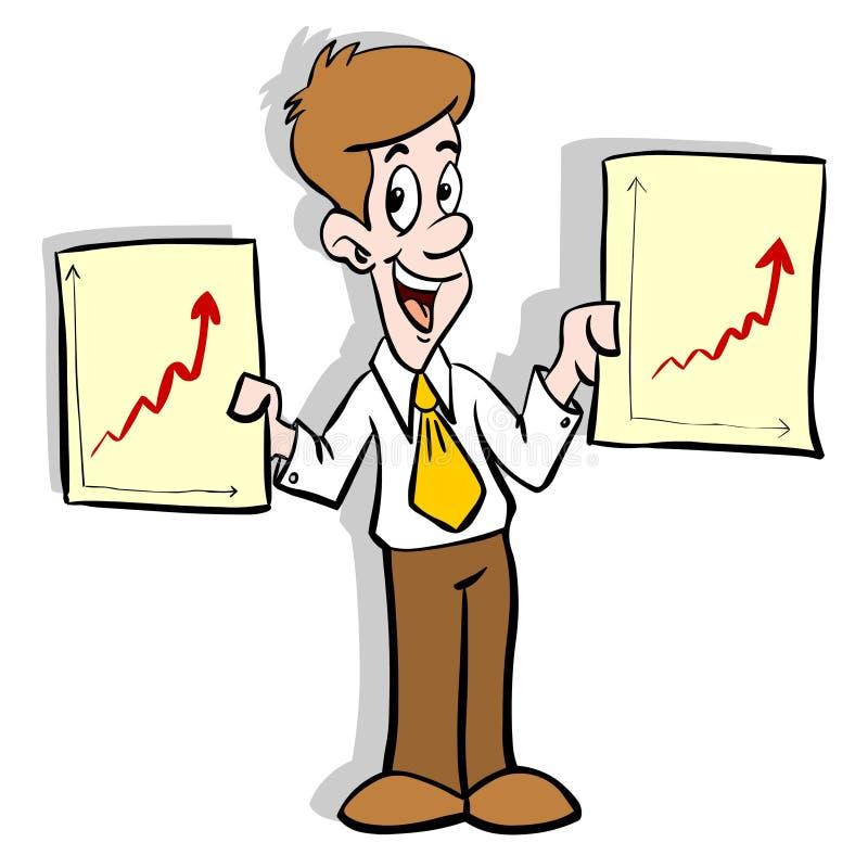 Diagramas do negócio ilustração royalty free
