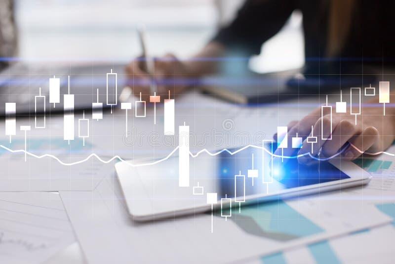 Diagramas e gráficos Estratégia empresarial, conceito da tecnologia da análise de dados imagens de stock