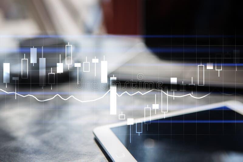 Diagramas e gráficos Estratégia empresarial, conceito da tecnologia da análise de dados fotografia de stock royalty free