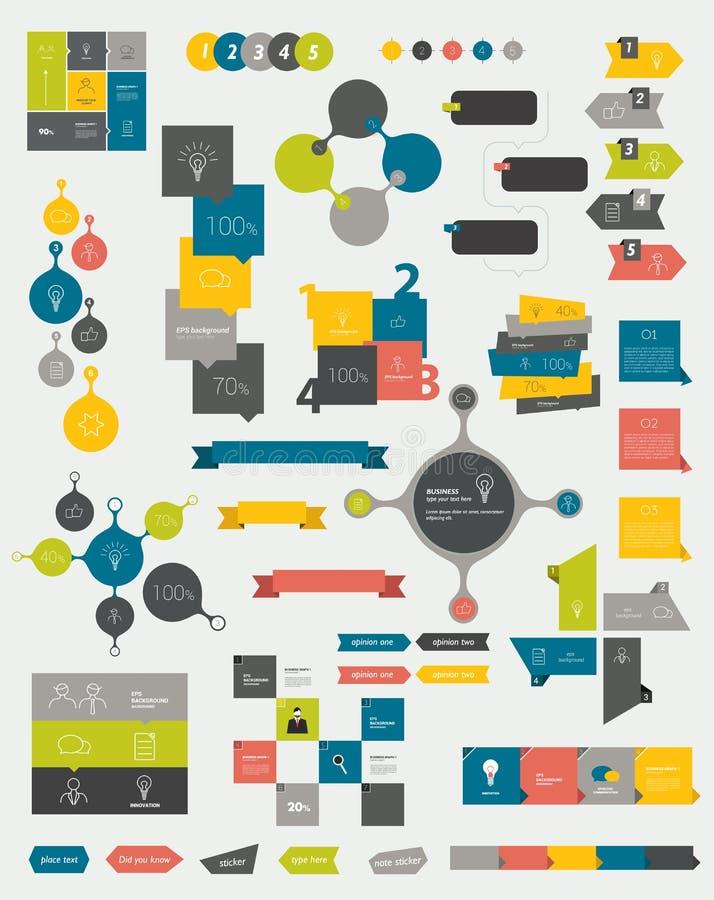 Diagramas lisos do projeto dos gráficos das recolhas de informação ilustração royalty free