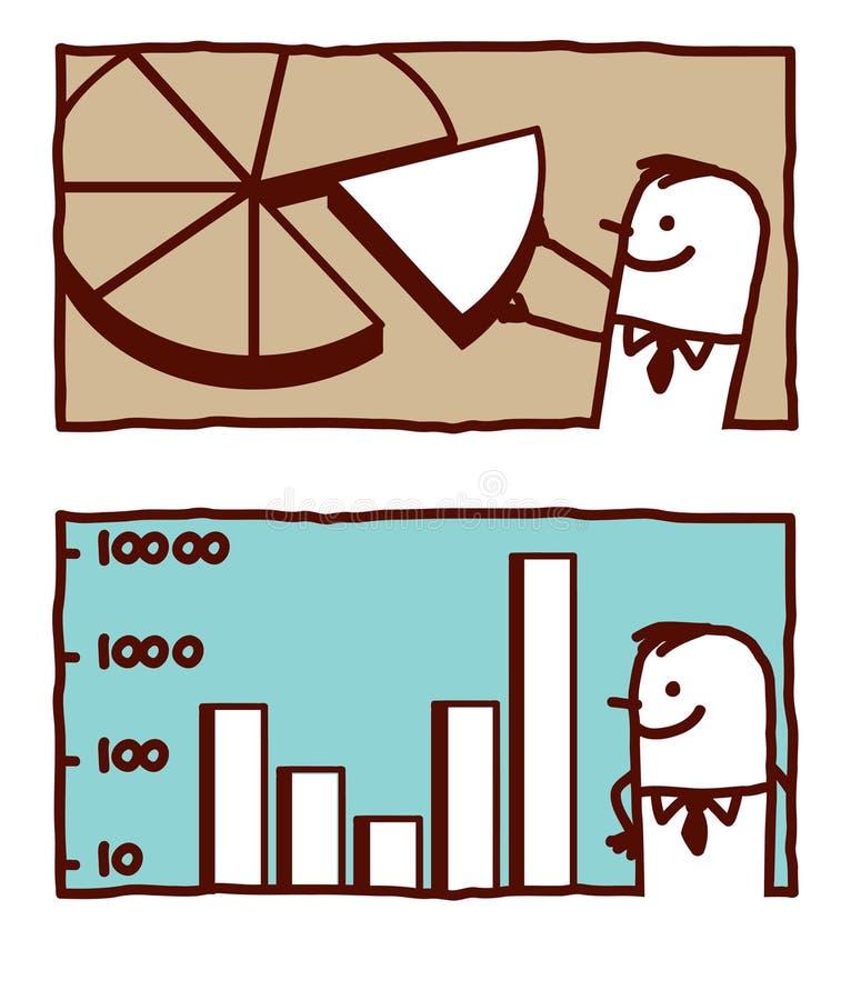 diagramdiagrampie stock illustrationer