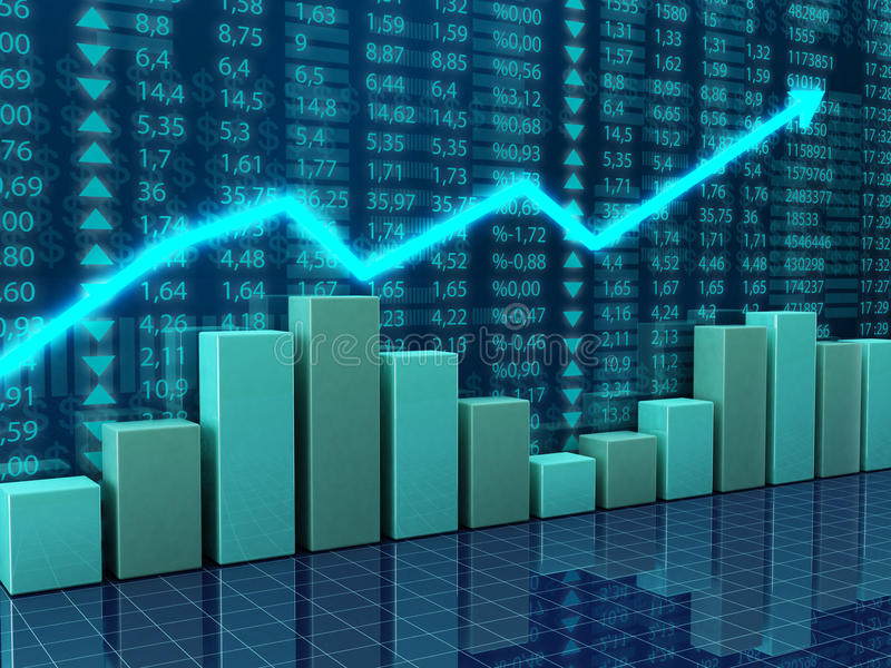 diagramekonomifinans stock illustrationer
