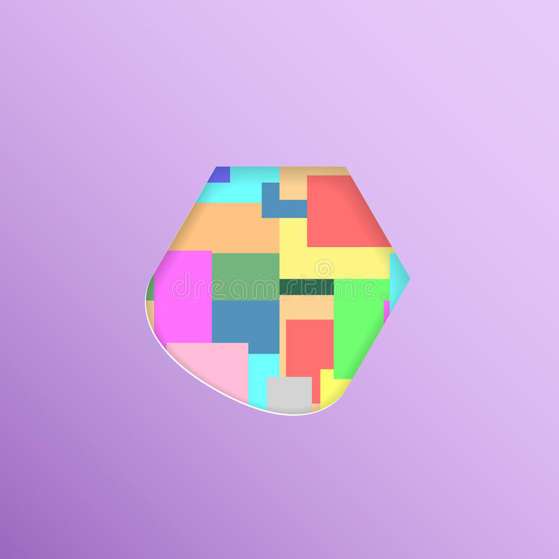 Diagramet i färgrika tegelplattor arkivbilder