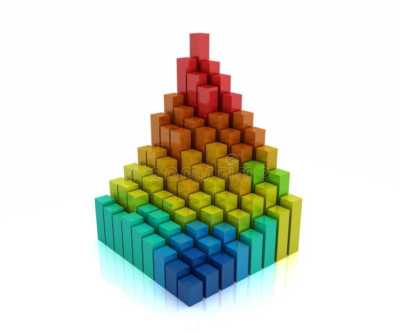 Diagramm 3d stock abbildung
