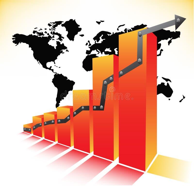 Diagramm stock abbildung