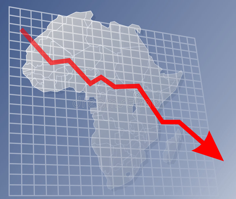 Diagramm Afrika unten vektor abbildung