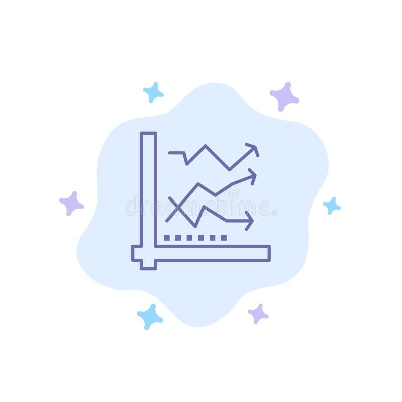 Diagramm, Analyse, analytisch, Analytics, Diagramm, Daten-blaue Ikone auf abstraktem Wolken-Hintergrund stock abbildung