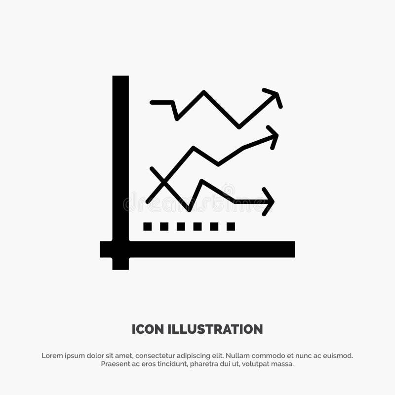 Diagramm, Analyse, analytisch, Analytics, Diagramm, Daten fester Glyph-Ikonenvektor lizenzfreie abbildung