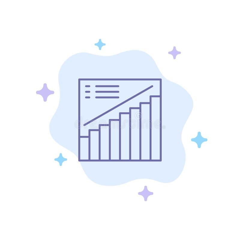 Diagramm, Diagramm, Analytics, Darstellung, Verkaufs-blaue Ikone auf abstraktem Wolken-Hintergrund vektor abbildung