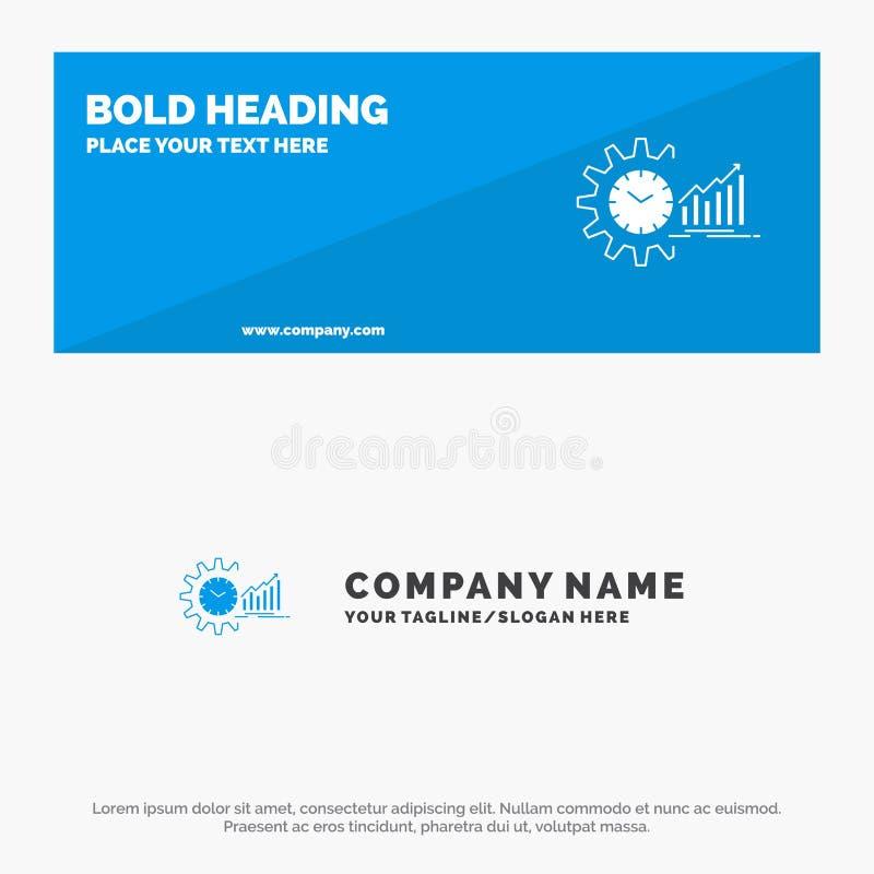 Diagramm, Analytics, Diagramme, Markt, Zeitplan, Zeit, Tendenz-feste Ikonen-Website-Fahne und Geschäft Logo Template lizenzfreie abbildung