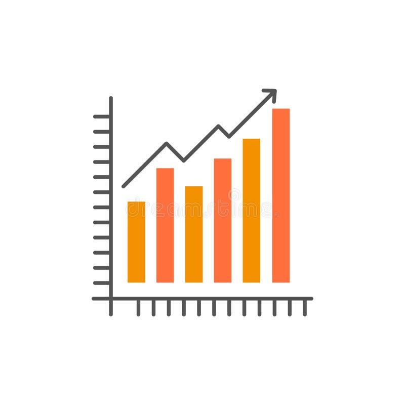 Diagramm, Analytics, Geschäft, Diagramm, Marketing, Statistiken, Tendenz-flache Farbikone Vektorikonen-Fahne Schablone vektor abbildung