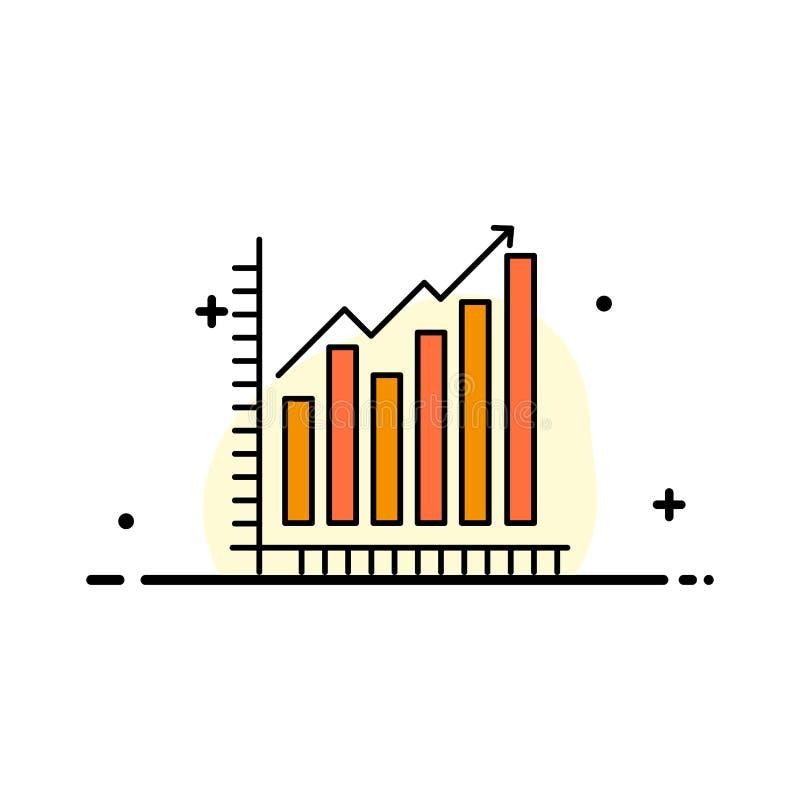 Diagramm, Analytics, Geschäft, Diagramm, Marketing, Statistiken, Tendenz-Geschäfts-flache Linie gefüllte Ikonen-Vektor-Fahnen-Sch lizenzfreie abbildung