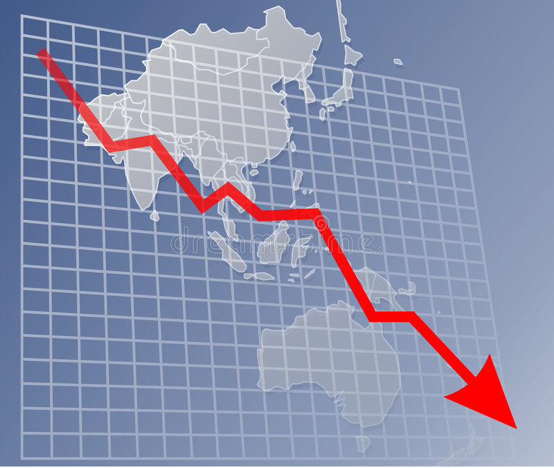 Diagramm Asien Unten Lizenzfreies Stockfoto