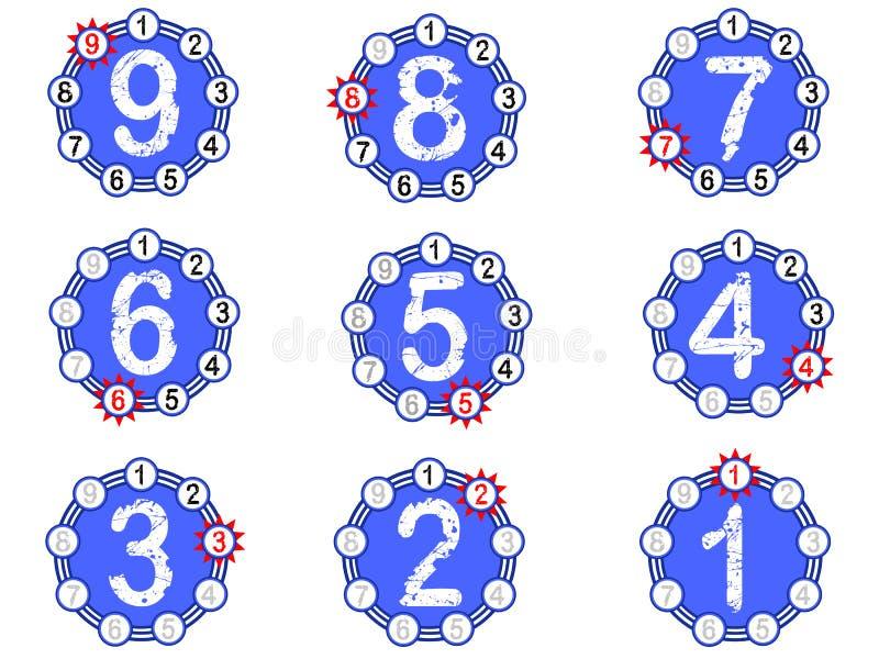 Diagramm-Count-down - Blau lizenzfreie abbildung