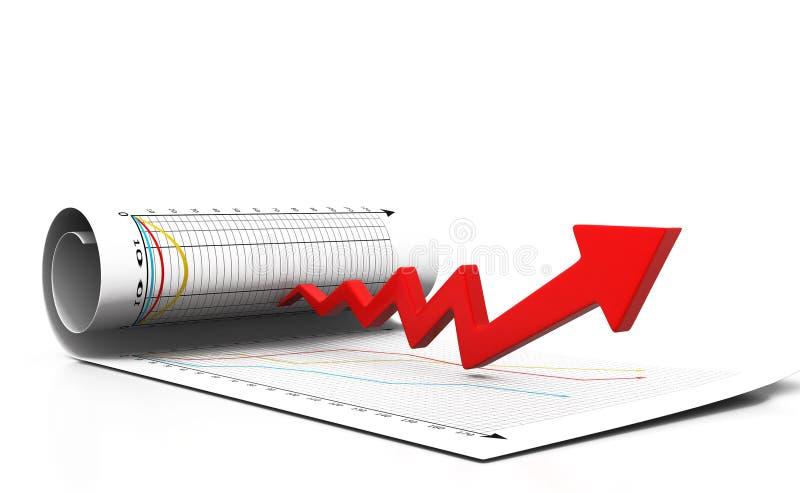 Diagramm der ökonomischen Rezession vektor abbildung