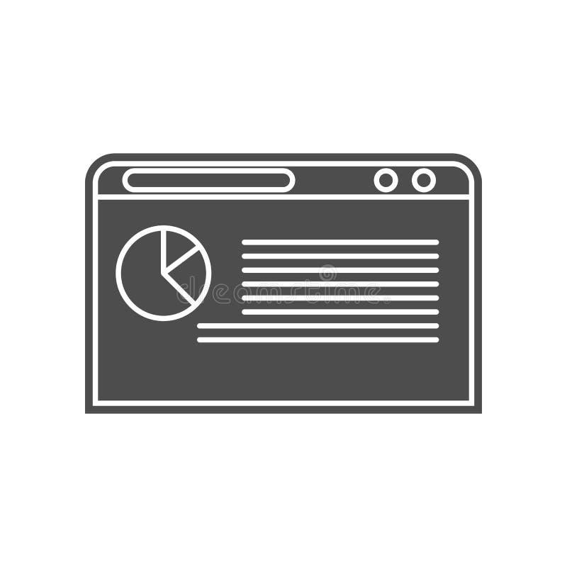 Diagramm in der Browserikone Element von minimalistic f?r bewegliches Konzept und Netz Appsikone Glyph, flache Ikone f?r Websitee stock abbildung
