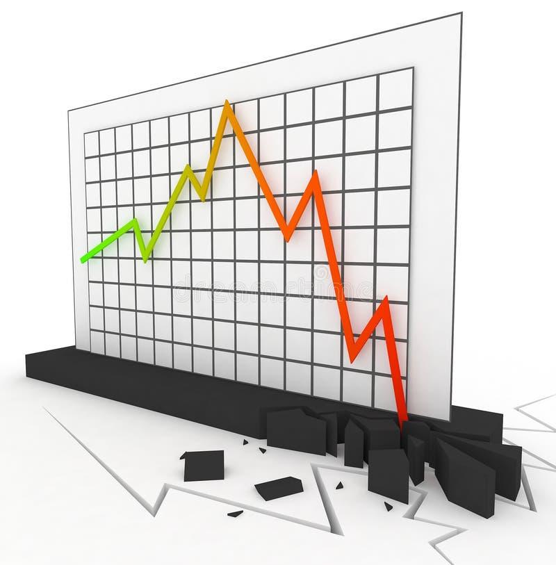Diagramm der Krisen-3d lizenzfreie abbildung
