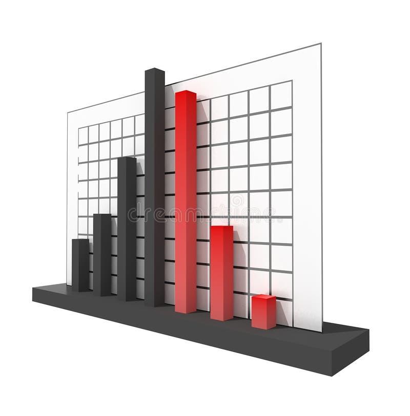Diagramm der Krisen-3d vektor abbildung