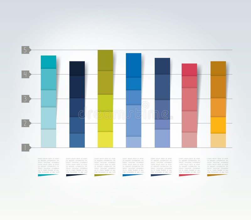 Diagramm des Designs 3D Infographics-Diagramm stock abbildung