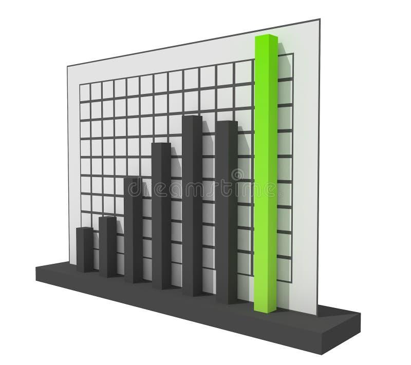Diagramm des Erfolgs-3d stock abbildung