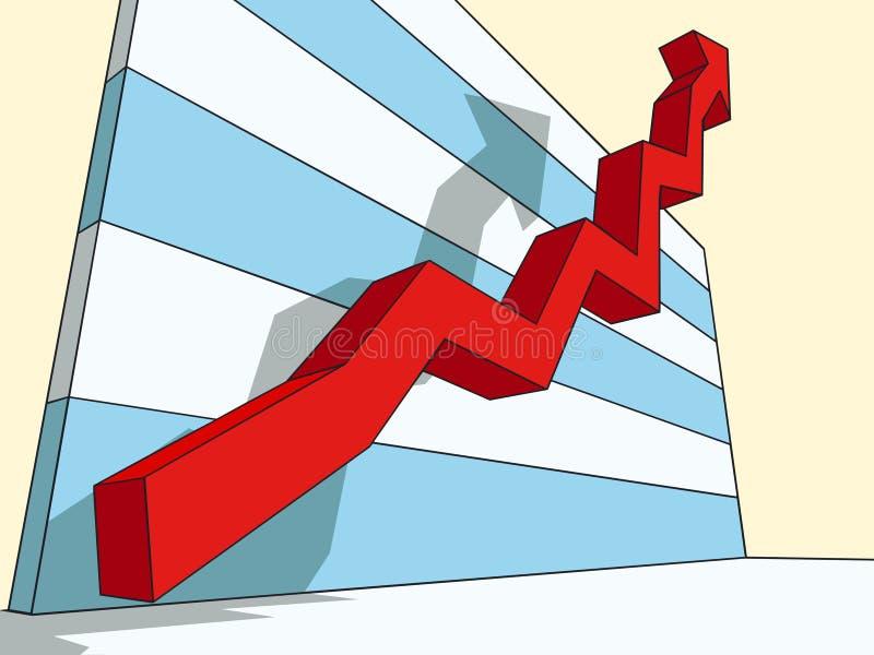 Diagramm des Erfolgs stock abbildung