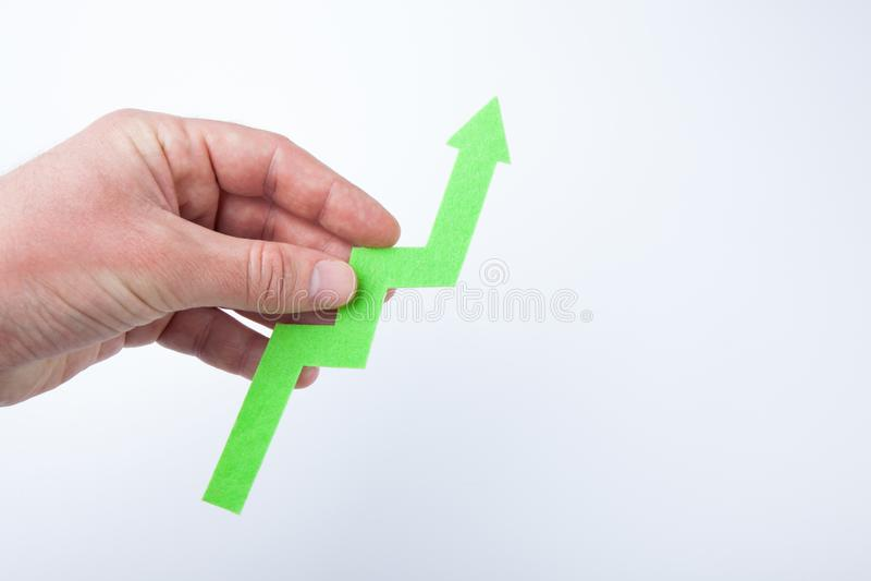 Diagramm des Finanzwachstums, Konzept auf einem weißen Hintergrund lizenzfreies stockfoto