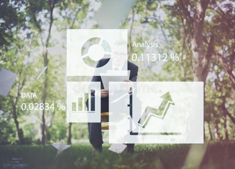 Diagramm-Diagramm-Analytik-Wirtschaftsstatistik-Konzept lizenzfreie stockbilder