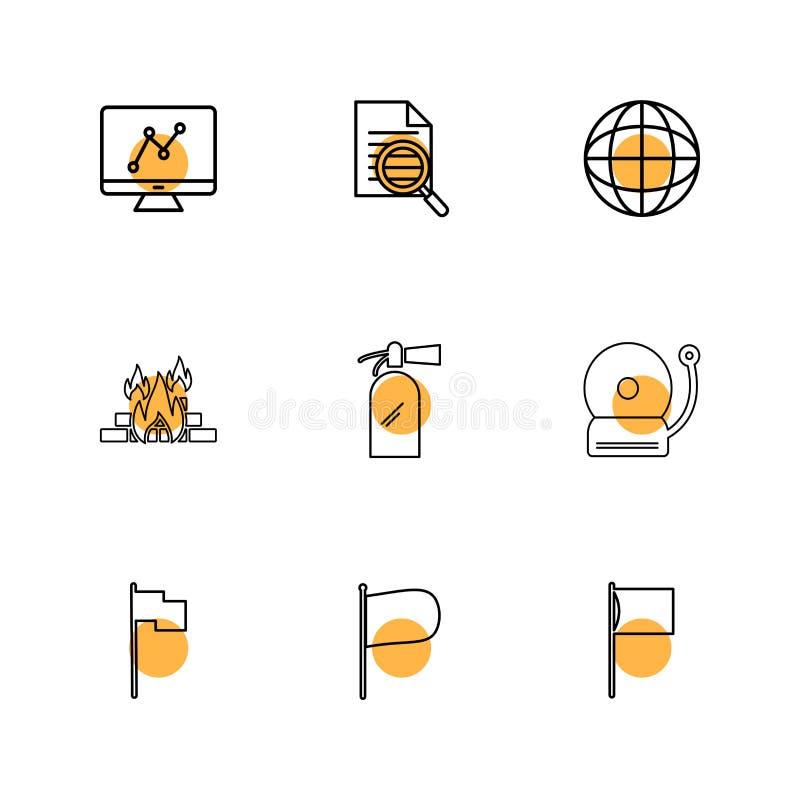 Diagramm, Dokument, Glocke, Feuer, seo, Technologie, Internet, Florida stock abbildung