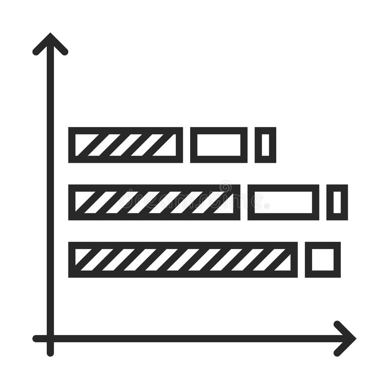 Diagramm icon. In simple outline style. This icon are perfect for your websites and applications stock illustration