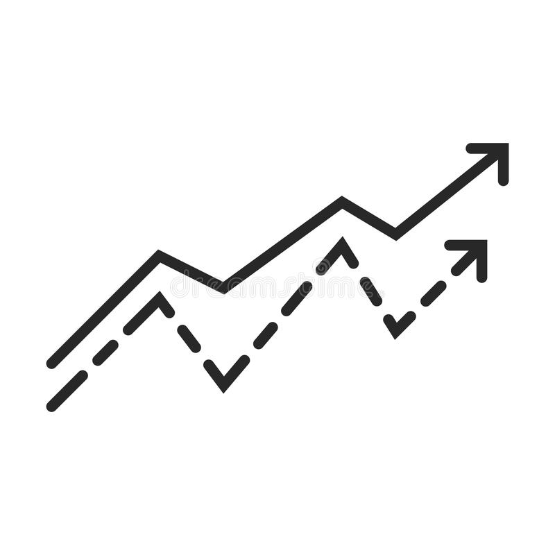 Diagramm icon. In simple outline style. This icon are perfect for your websites and applications vector illustration