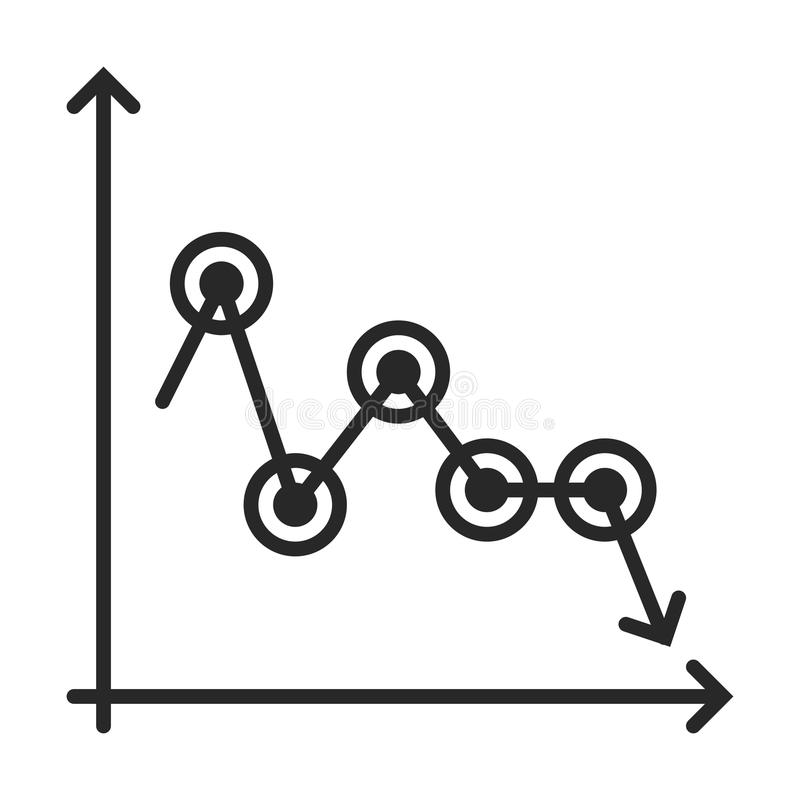 Diagramm icon. In simple outline style. This icon are perfect for your websites and applications royalty free illustration