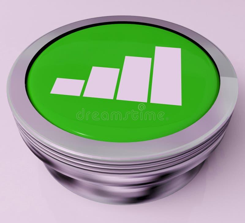 Diagramm-Knopf Bedeutet Datenanalyse Oder Statistiken Stock ...