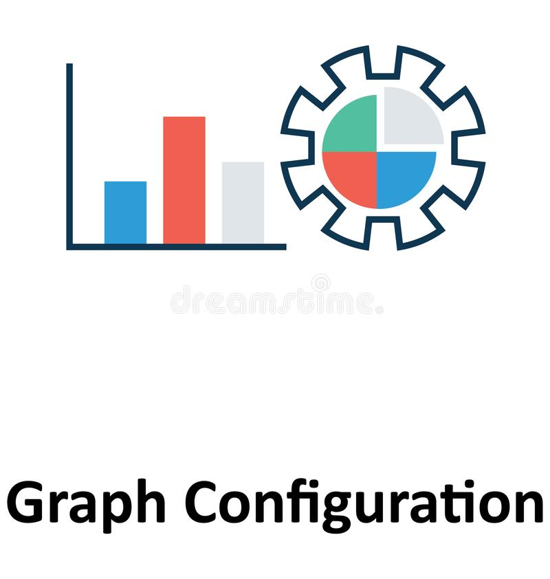 Diagramm-Konfiguration lokalisiert und Vektor-Ikone für Technologie stock abbildung