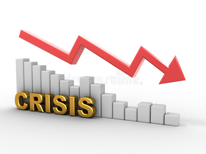 Diagramm. Krise lizenzfreie abbildung