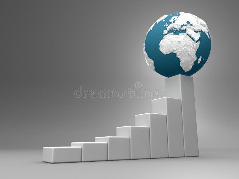 Diagramm mit Erde - Europa und Afrika vektor abbildung