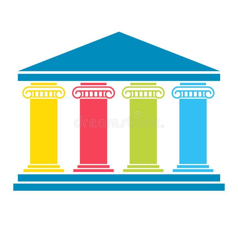 Diagramm mit vier Säulen stock abbildung