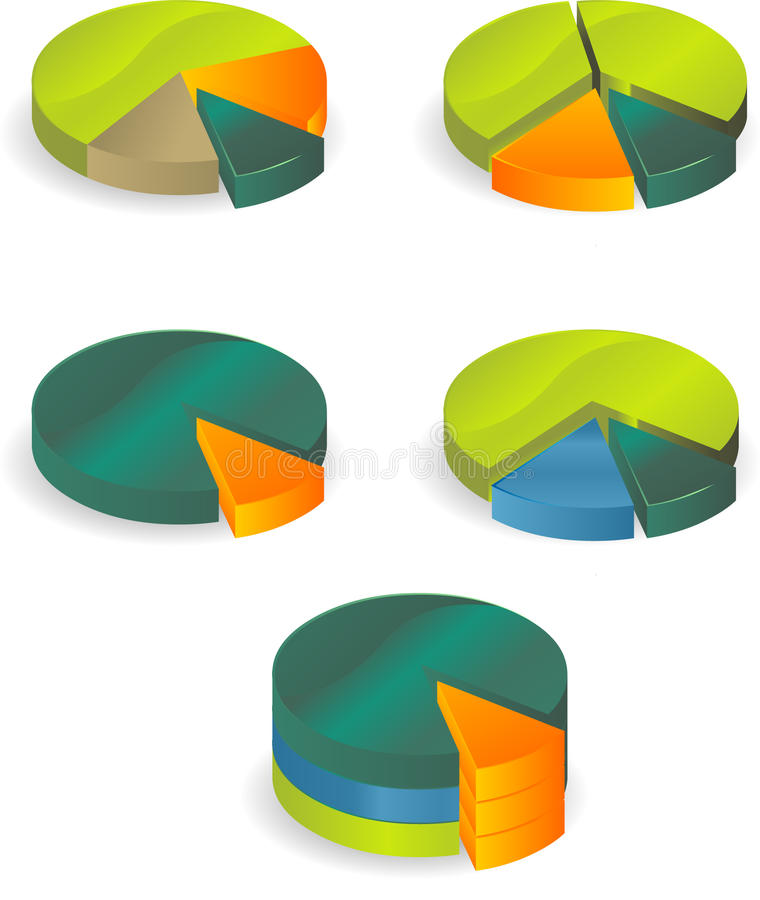 Diagramm object. Diagramm. recession. icons set royalty free illustration