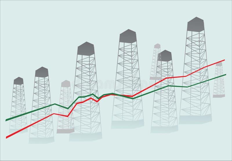 Download Diagramm and oil derricks stock illustration. Image of figures - 7409830