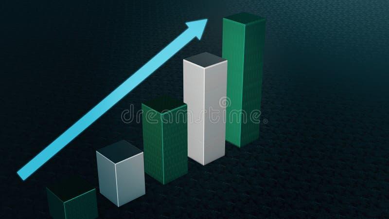 Diagramm-Stange, Infographic-Diagramm, Diagramm 3D übertrug vektor abbildung