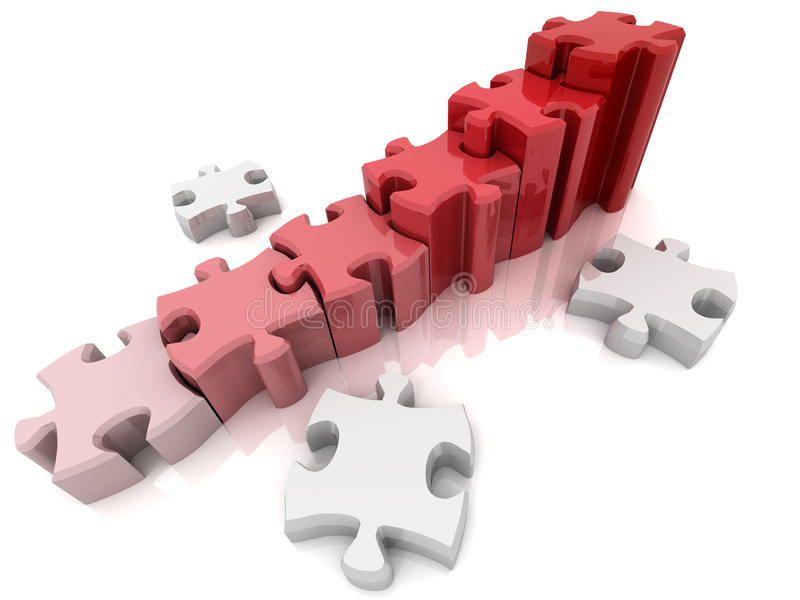 Diagramm vom Puzzlespiel vektor abbildung
