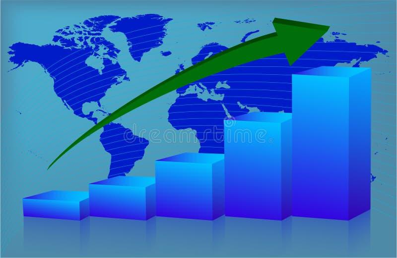 Diagramm-Welt oben lizenzfreie abbildung