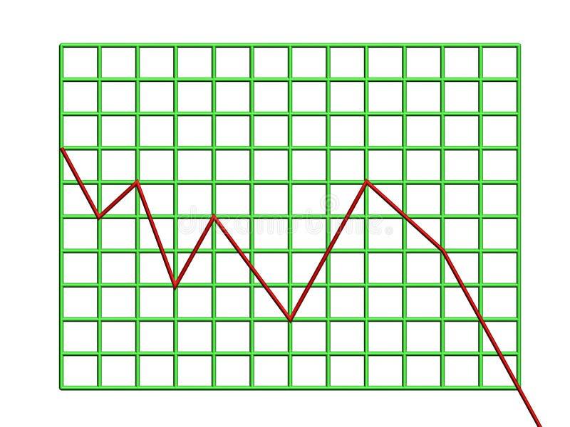 Diagramma illustrazione di stock
