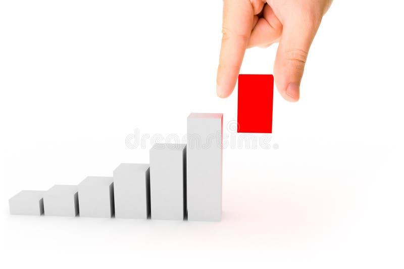 diagramma 3d con la mano fotografie stock