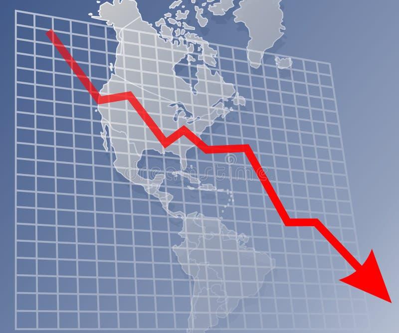 Diagramma Americas Giù Fotografie Stock