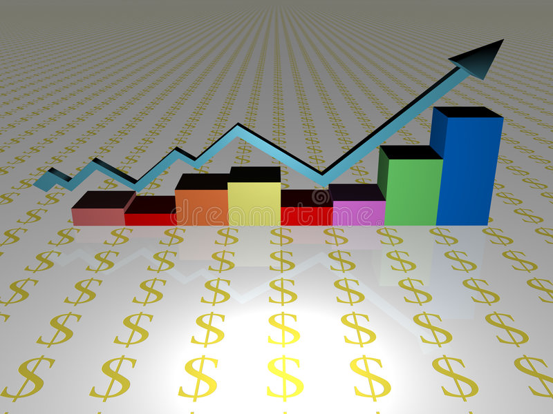 Diagramma aumentante di vendite