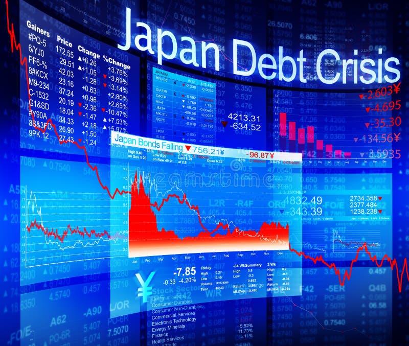 Diagramma blu delle azione di crisi con i dati del fondo illustrazione di stock