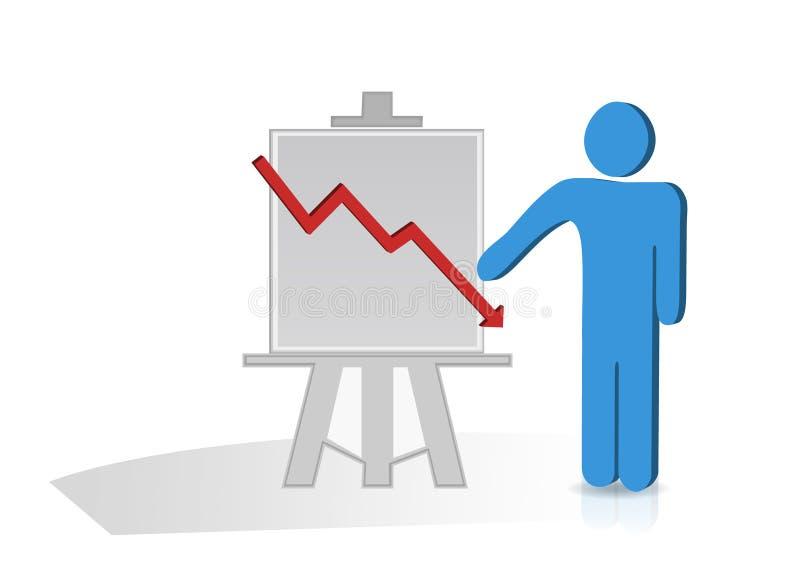 Diagramma del grafico illustrazione di stock